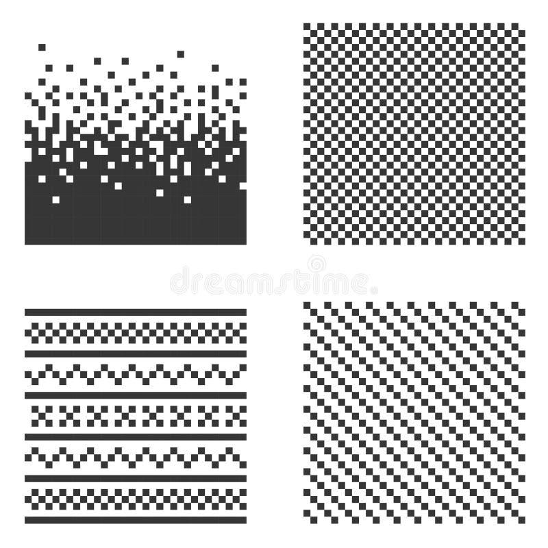 Ensemble de modèle de pixel Vecteur illustration de vecteur