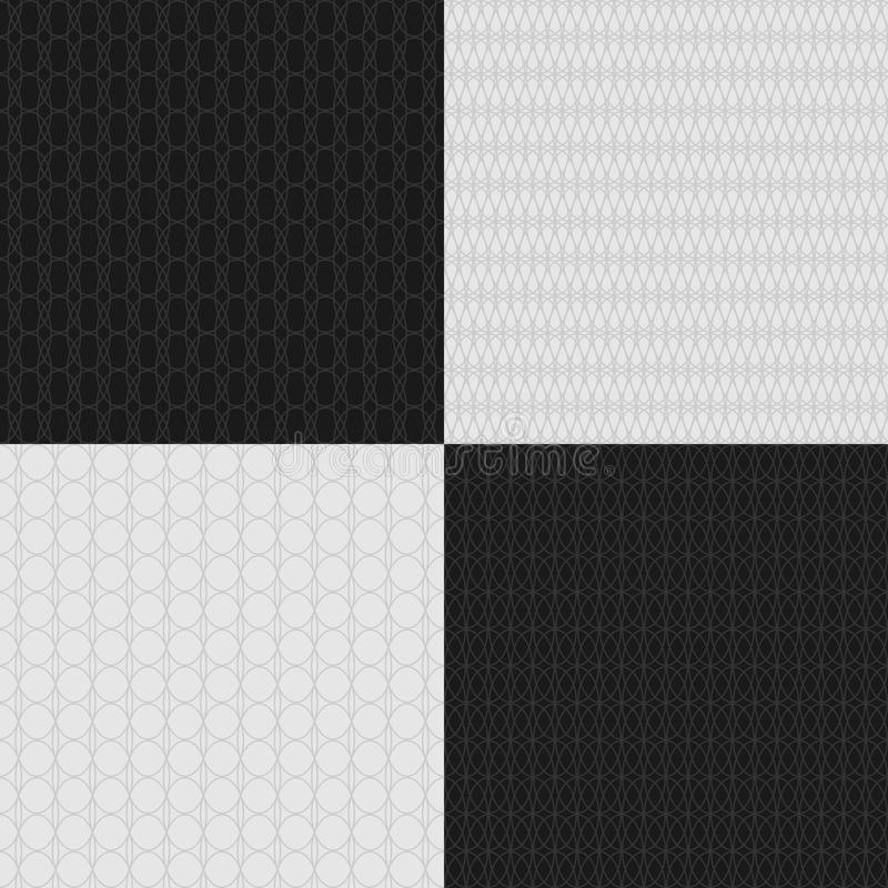 Ensemble de modèles croisés sans couture de guilloche Filigrane de filet de sécurité pour des certificats ou des billets de banqu illustration stock