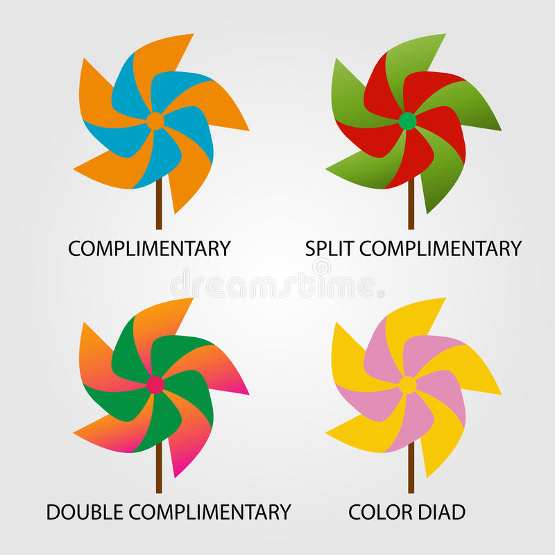 Ensemble de modèles de couleurs illustration libre de droits