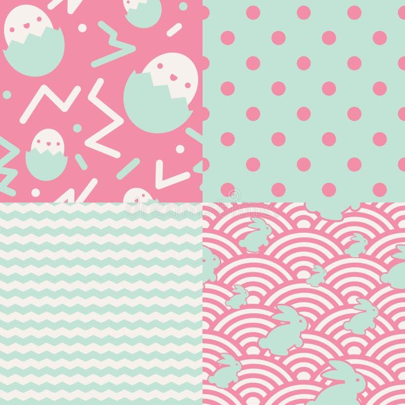 Ensemble de modèles de Pâques illustration stock