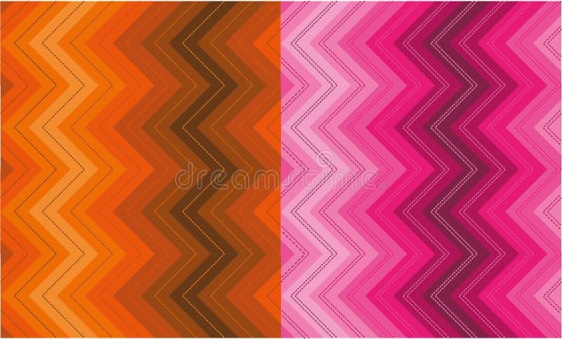Ensemble de modèles de zigzag illustration stock