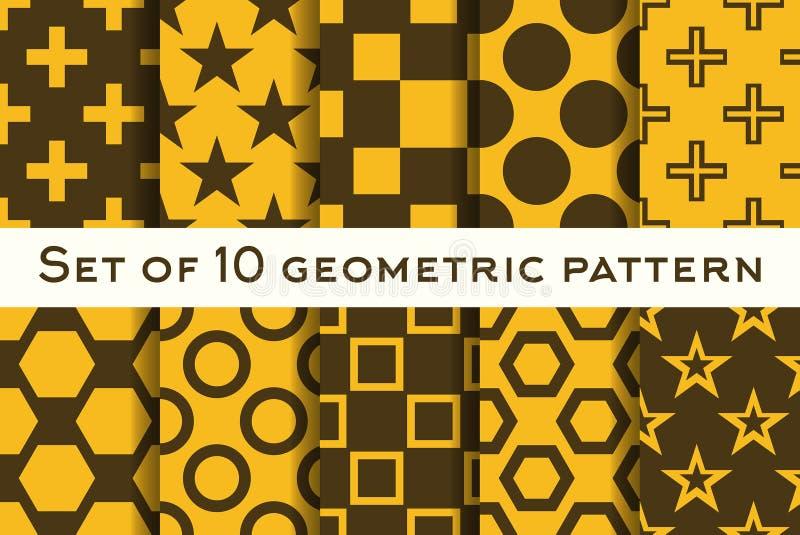 Download Ensemble De 10 Modèles Géométriques Dans Des Couleurs Oranges Et Brunes Illustration de Vecteur - Illustration du abstrait, carte: 56487890