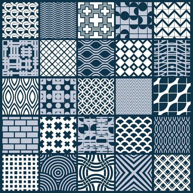 Ensemble de modèles géométriques sans fin de vecteur composés avec différent illustration stock