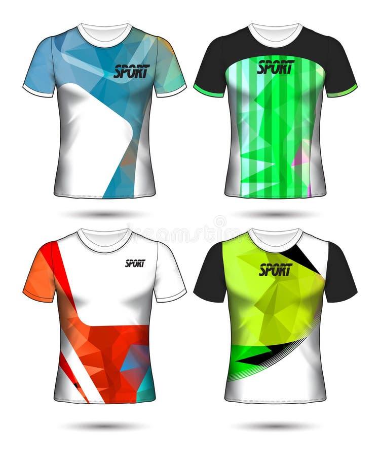 Ensemble de modèles de maillot de football ou de soccer de style t-shirt, concevez l'illustration vectorielle de votre club de fo illustration libre de droits