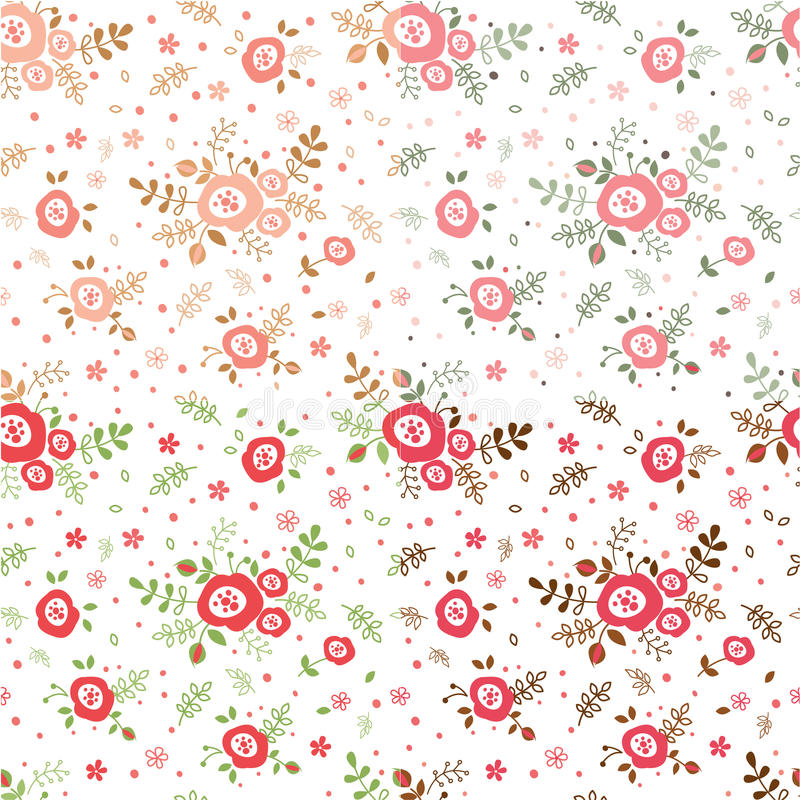 Ensemble de modèles sans couture de fleurs illustration stock