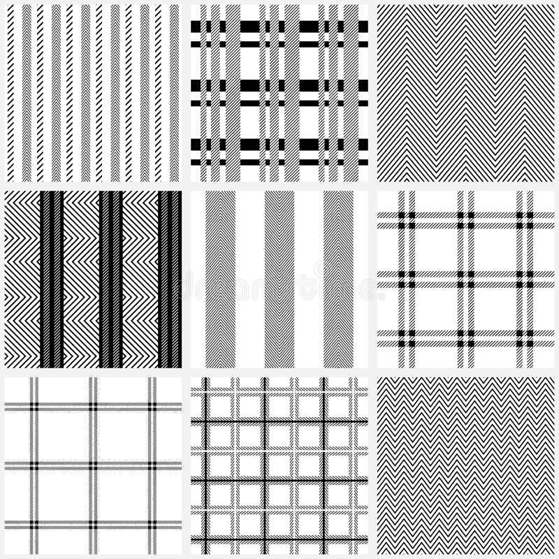 Ensemble de modèles sans couture de textile de coton illustration libre de droits