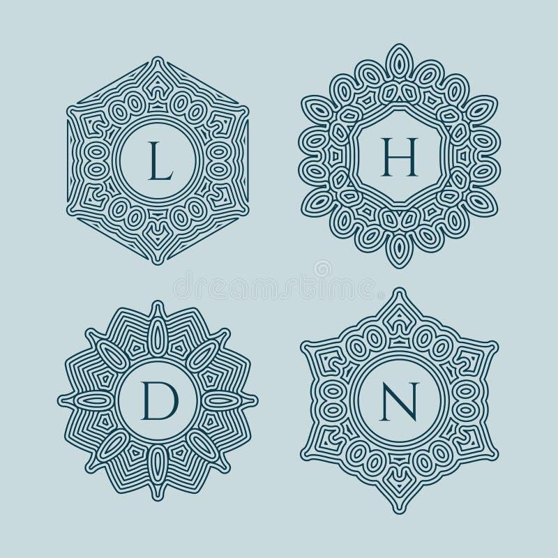 Ensemble de monogrammes illustration de vecteur