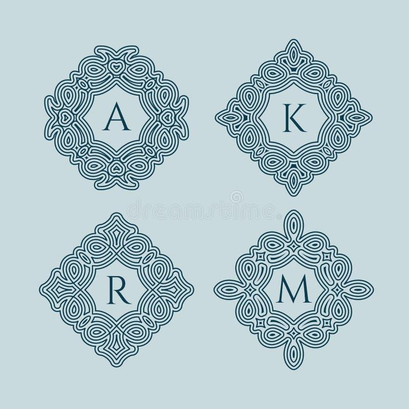 Ensemble de monogrammes illustration libre de droits