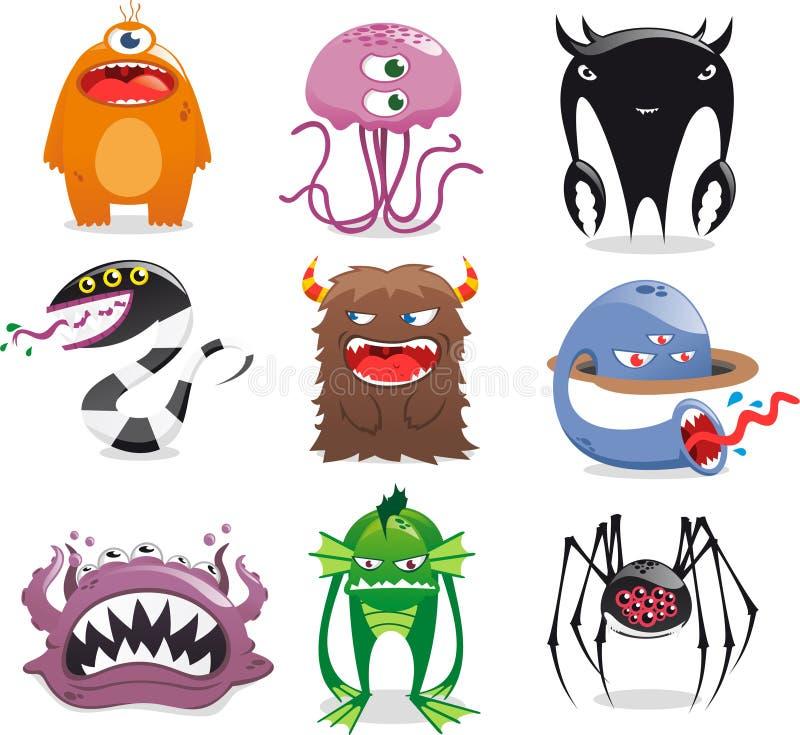 Ensemble de monstre illustration stock