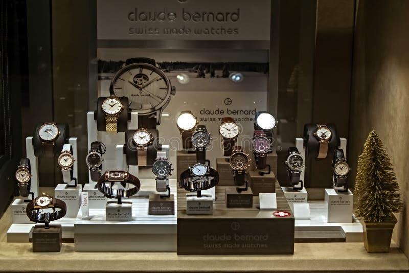 Ensemble de montres de luxe photographie stock libre de droits