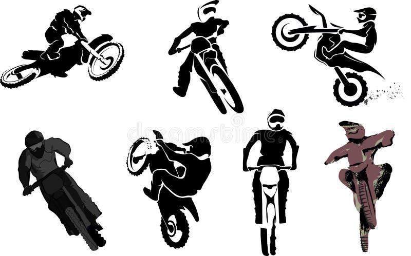 Ensemble de motocyclette illustration de vecteur