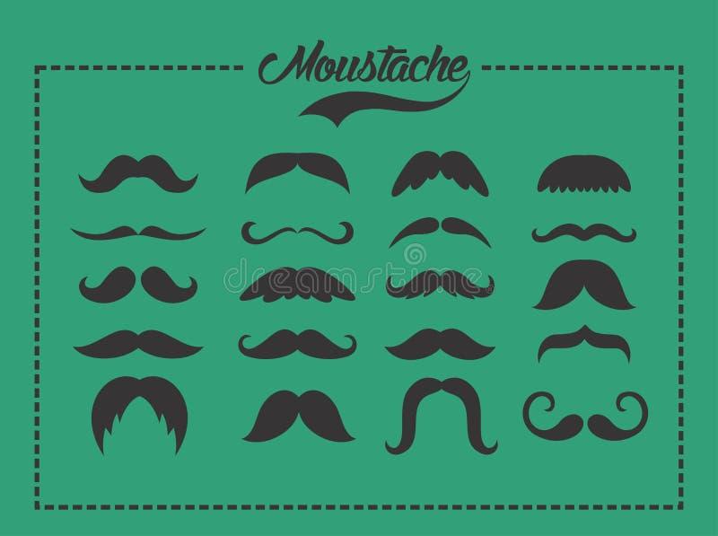 Ensemble de moustache image stock