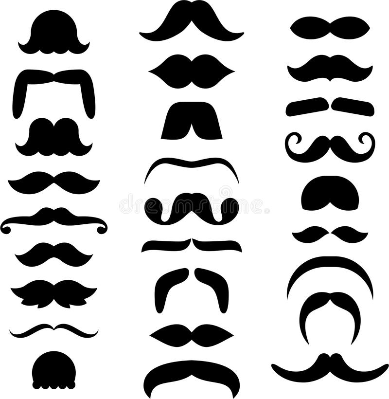 Ensemble de moustaches ized illustration libre de droits