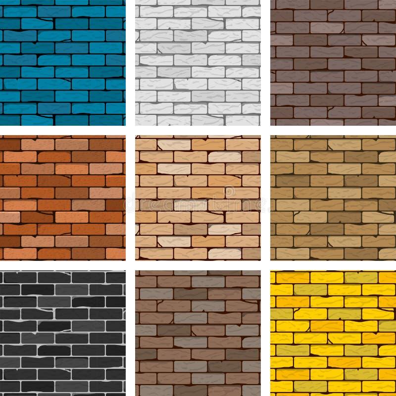 Ensemble de mur de briques de vecteur illustration de vecteur