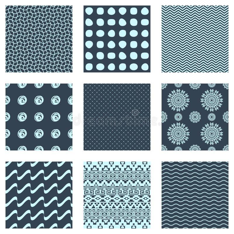 Ensemble de neuf configurations sans joint illustration de vecteur