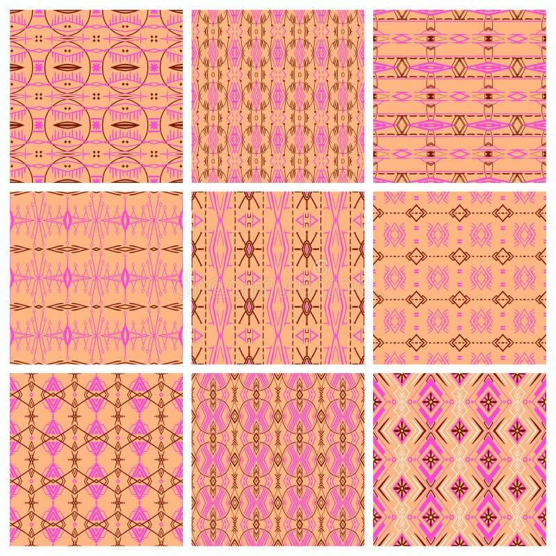 Ensemble de neuf modèles tribals illustration libre de droits