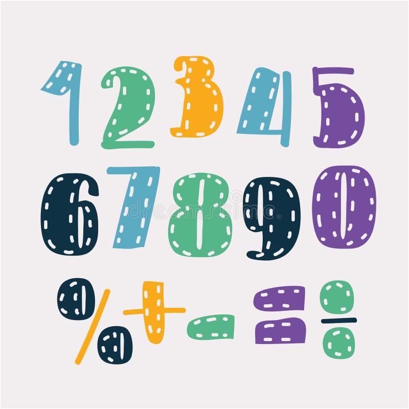 Ensemble de nombres d'un à zéro illustration libre de droits