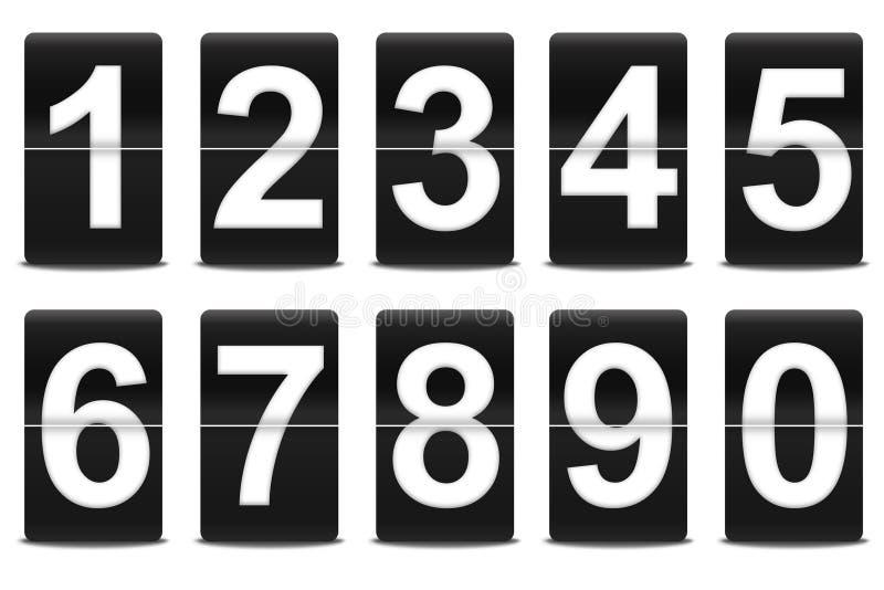 Ensemble de nombres noirs de chiquenaude illustration libre de droits