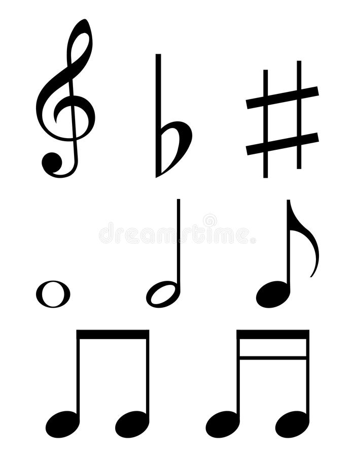 Ensemble de notes de musique illustration libre de droits