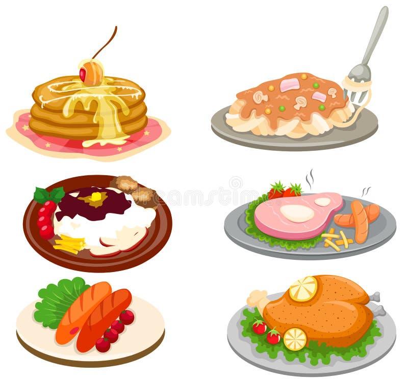 Ensemble de nourriture illustration de vecteur
