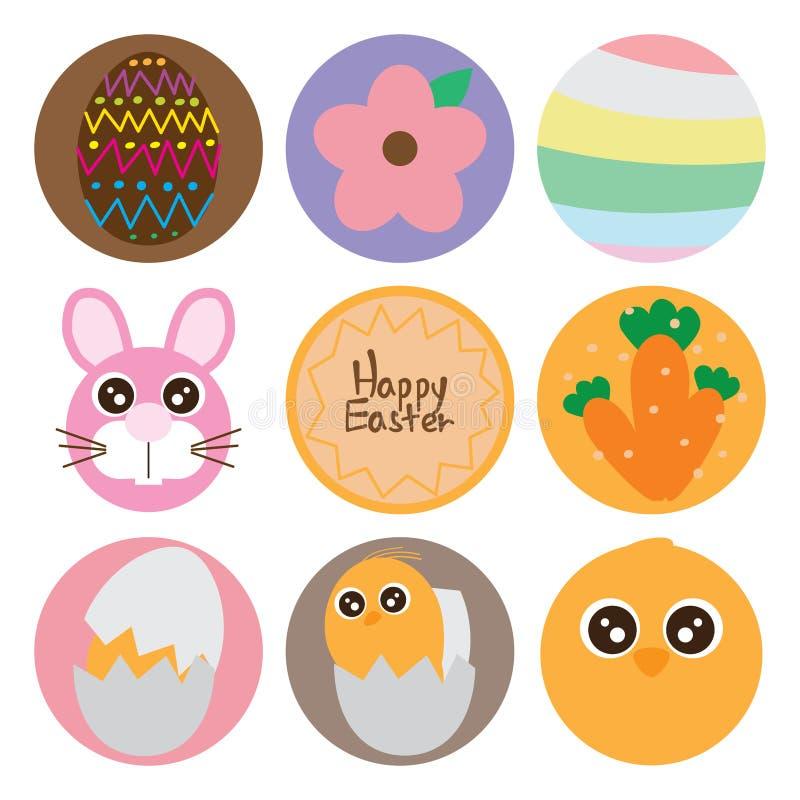 Ensemble de nourriture de cercle de Pâques illustration de vecteur
