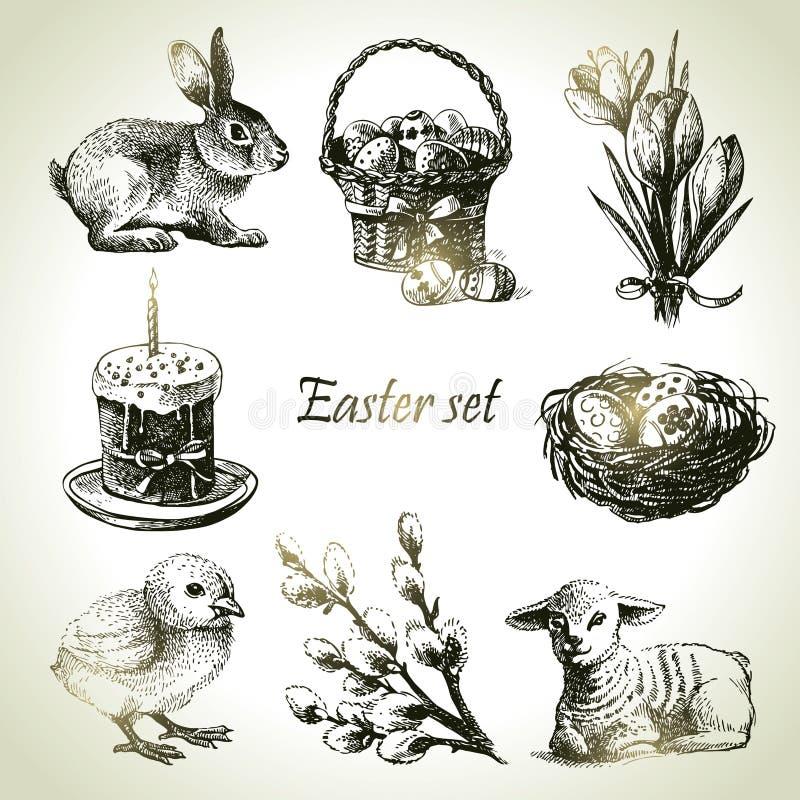 Ensemble de Pâques illustration libre de droits