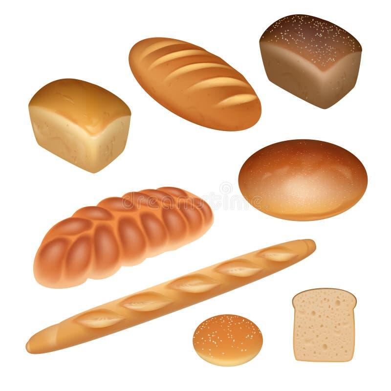 Ensemble de pain illustration stock