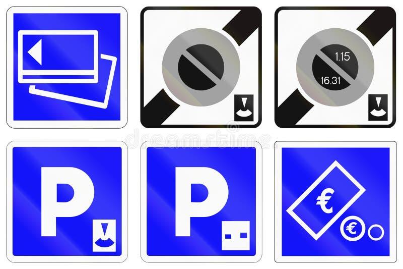 Download Ensemble De Panneaux Routiers Français De L'information Illustration Stock - Illustration du credit, lettre: 77160365