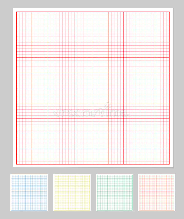 Ensemble de papier de graphique illustration libre de droits