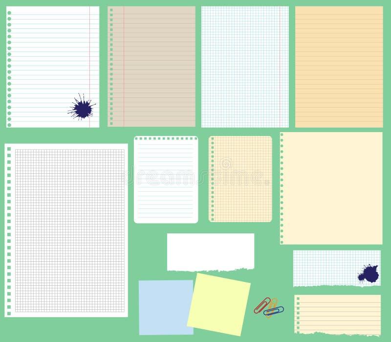 Ensemble de papier de vecteur illustration stock
