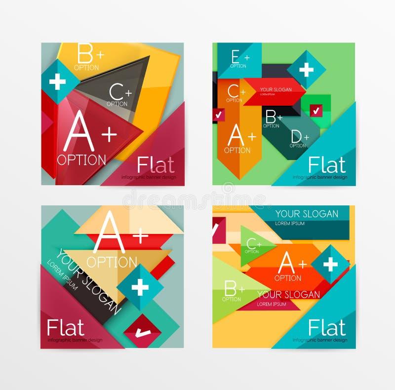 Ensemble de papier moderne de disposition de bannière d'infos illustration de vecteur