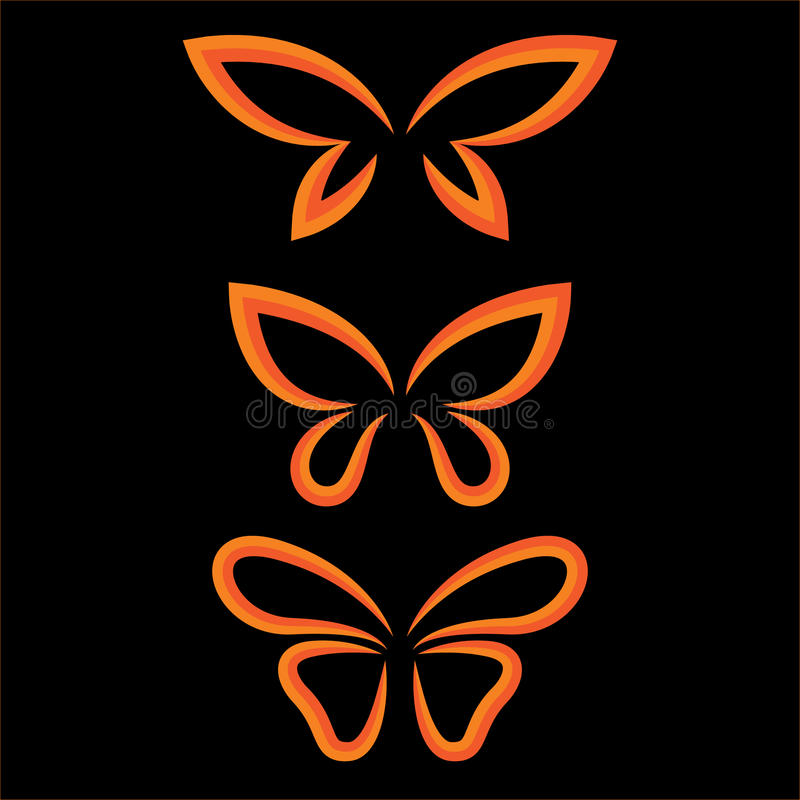 Ensemble de papillon d'ailes illustration de vecteur