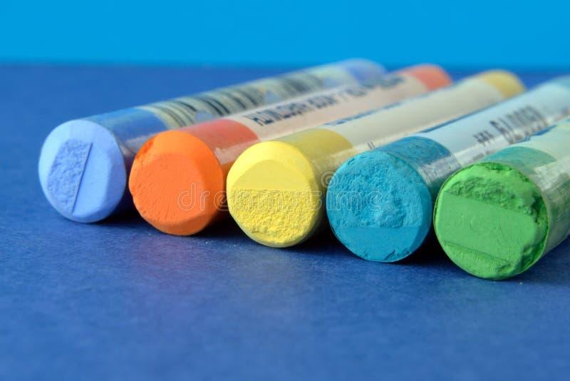 Ensemble de pastels secs photographie stock
