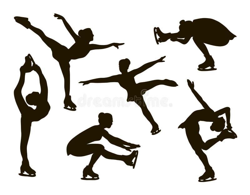 Ensemble de patinage artistique illustration libre de droits