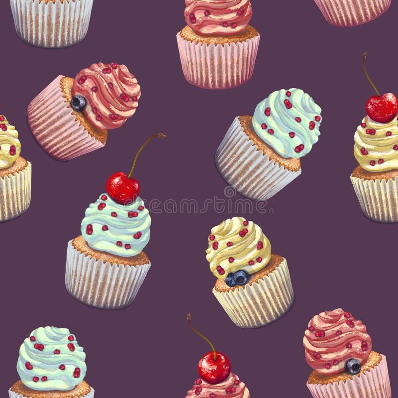 Ensemble de petits g?teaux de vecteur Un biscuit humide friable et doux avec un fromage fondu mou color?, menthe-assaisonn?, avec illustration stock