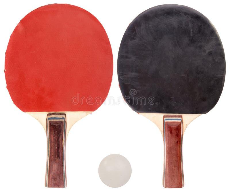Ensemble de ping-pong d'isolement photo stock