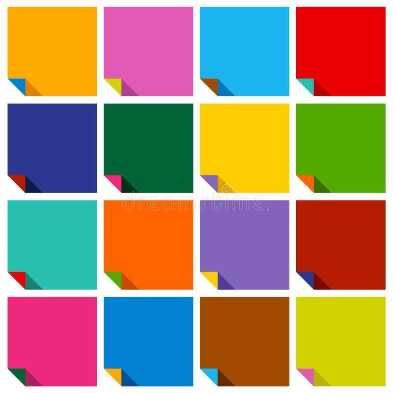 Ensemble de 16 places en blanc illustration stock