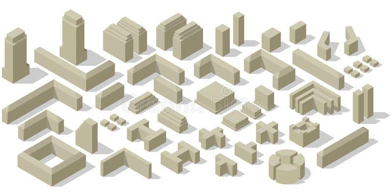 Ensemble de plan de ville illustration de vecteur