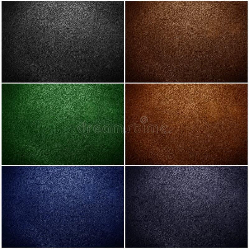 Ensemble de plan rapproché en cuir de texture photos libres de droits