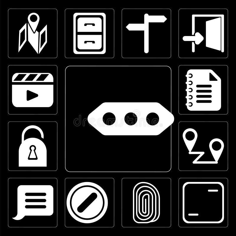 Ensemble de plus, cadre, empreinte digitale, interdite, avis, Placeh illustration de vecteur