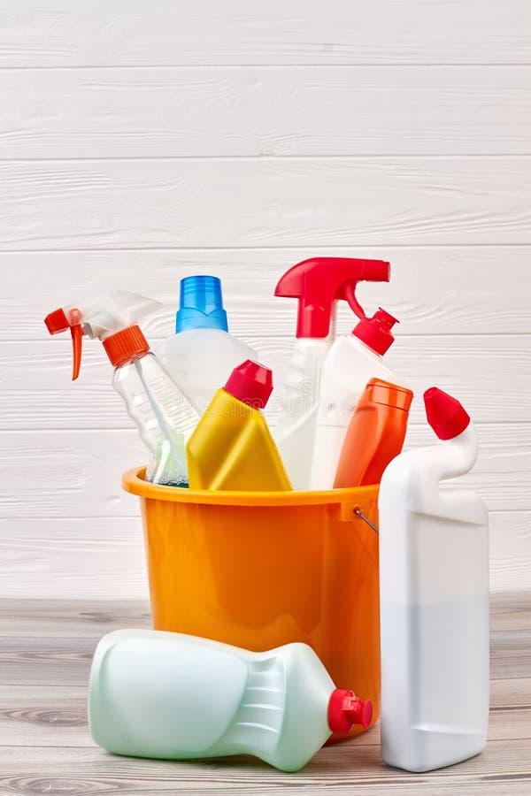 Ensemble de produits de nettoyage et d'hygiène photographie stock libre de droits