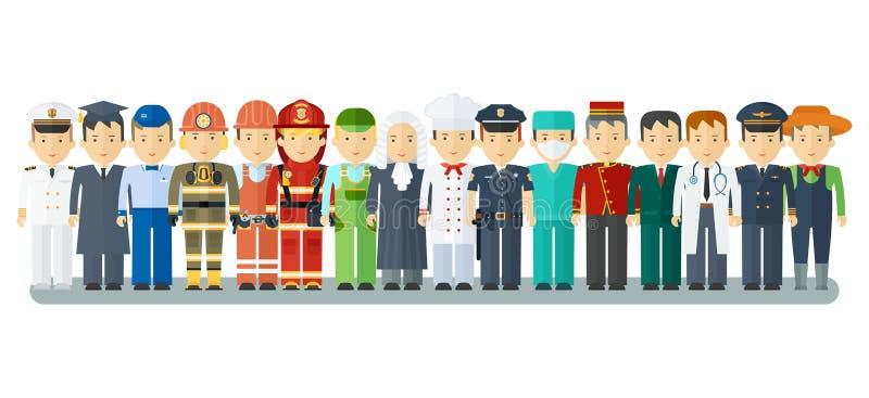 Ensemble de professions des hommes illustration libre de droits