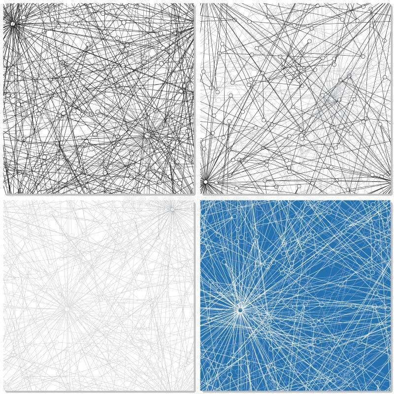 Ensemble de quatre modèles de Web illustration stock