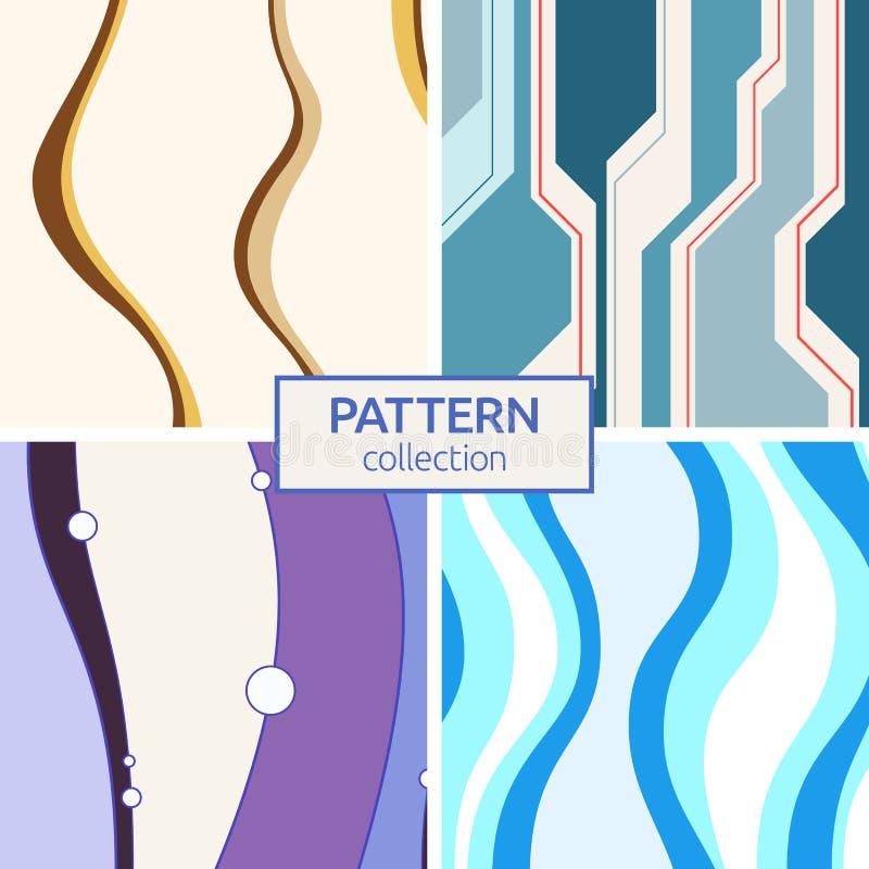 Ensemble de quatre modèles sans couture de vecteur abstrait illustration de vecteur