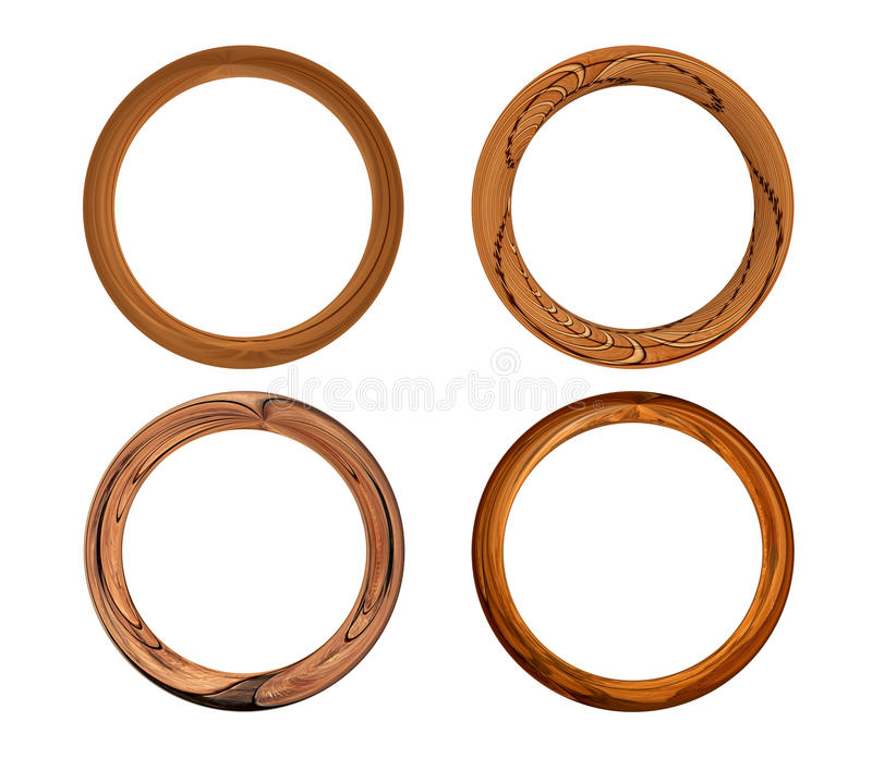 Ensemble de quatre trames en bois illustration libre de droits