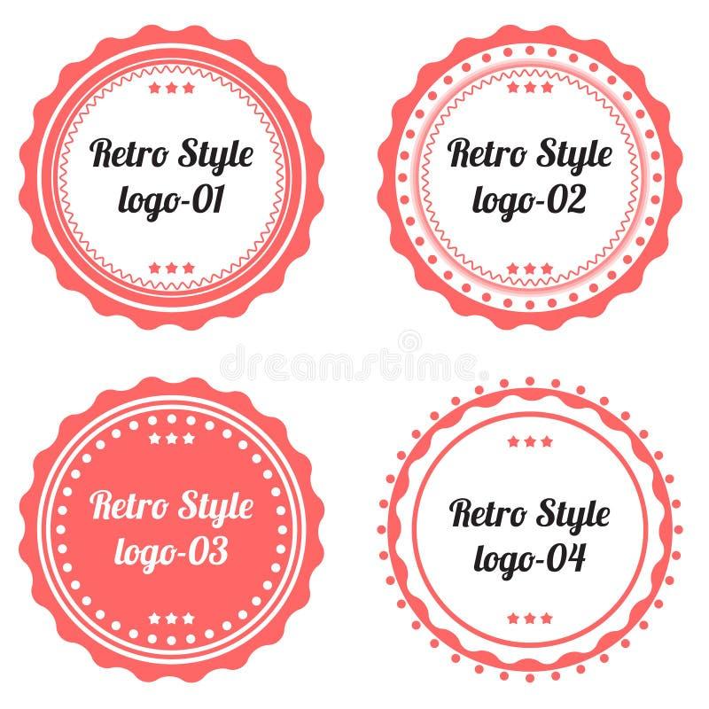 Download Ensemble De Rétro Forme De Logo De Labels Illustration de Vecteur - Illustration du qualité, logo: 87708509