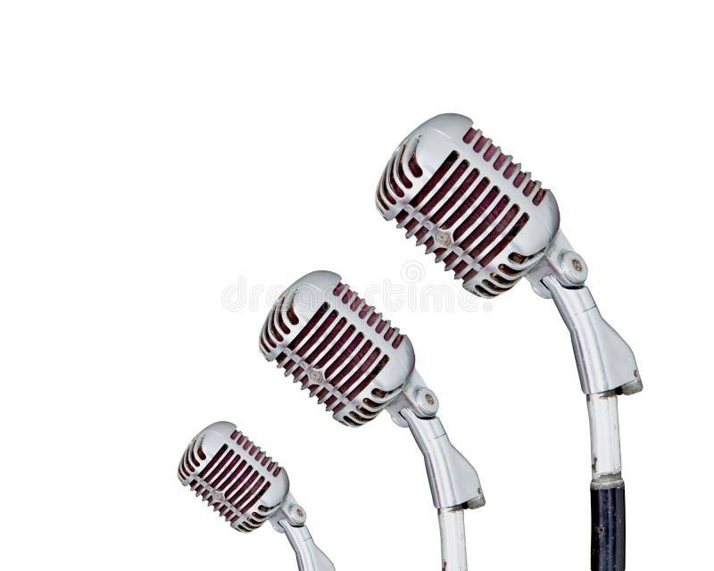 Ensemble de rétro microphone images stock