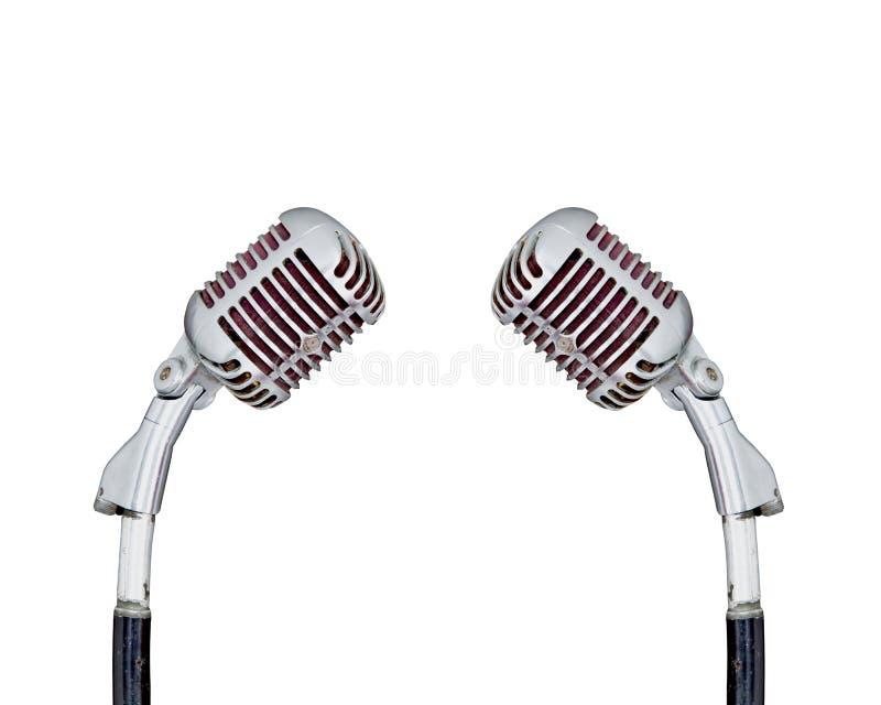 Ensemble de rétro microphone photographie stock libre de droits