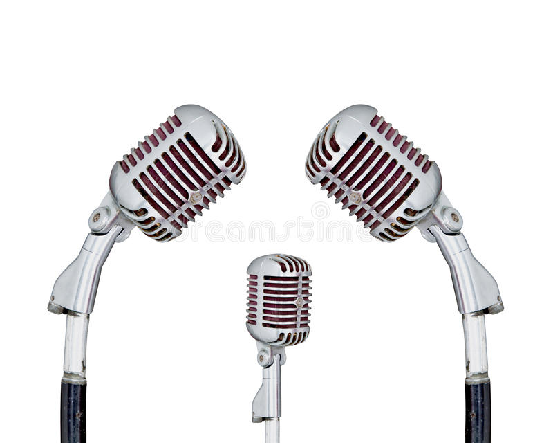 Ensemble de rétro microphone photo libre de droits