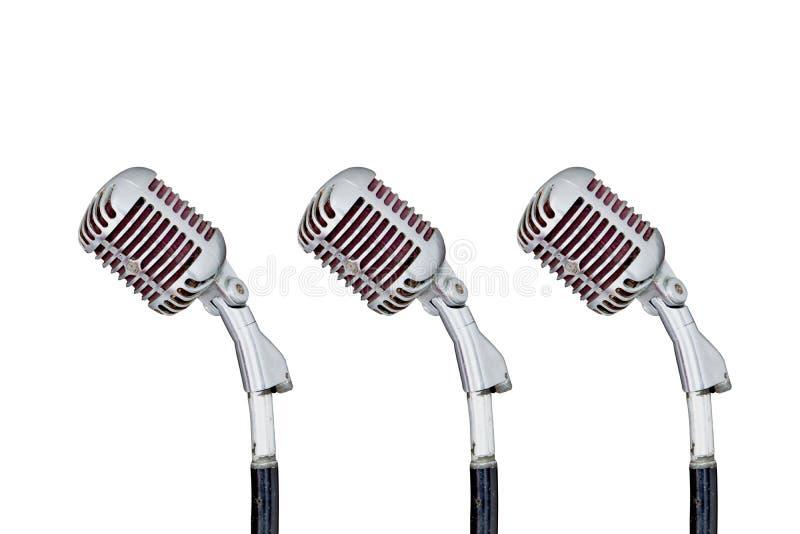 Ensemble de rétro microphone photographie stock